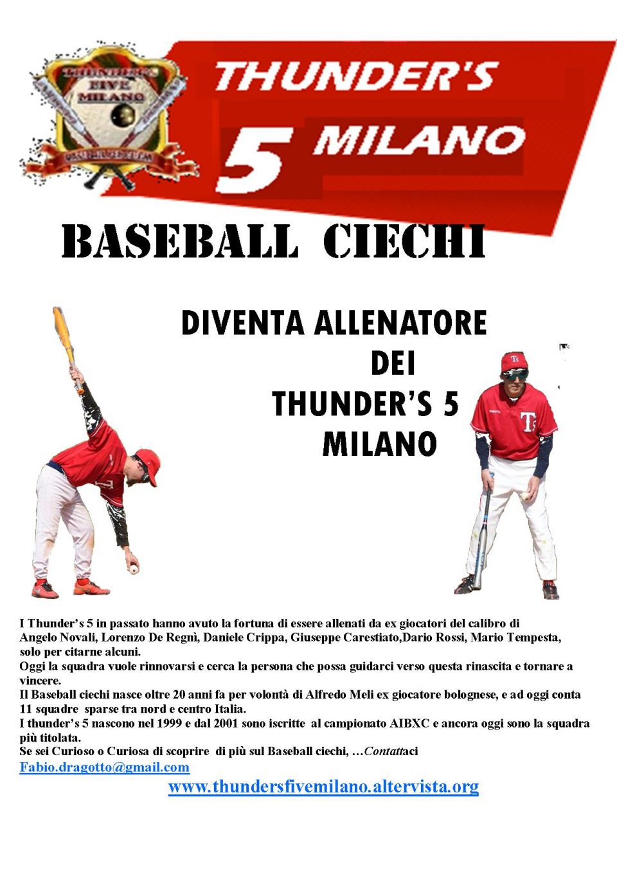 Diventa allenatore dei Thunders' 5 Milano